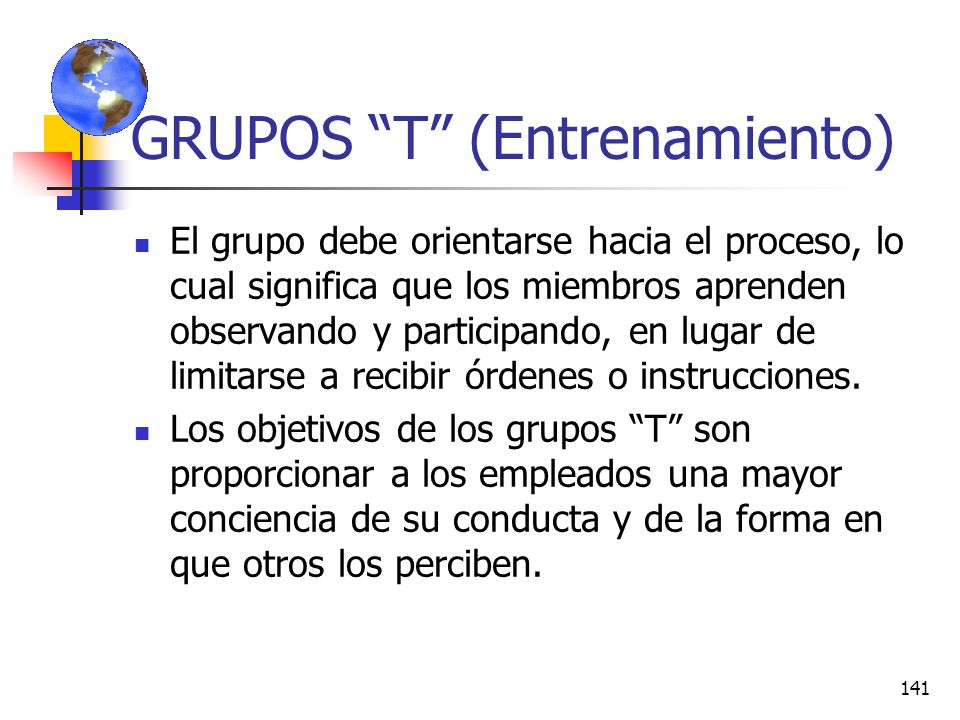 GRUPOS T (Entrenamiento)