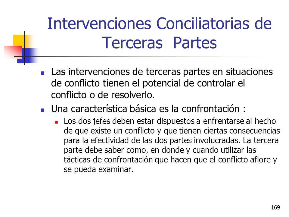 Intervenciones Conciliatorias de Terceras Partes