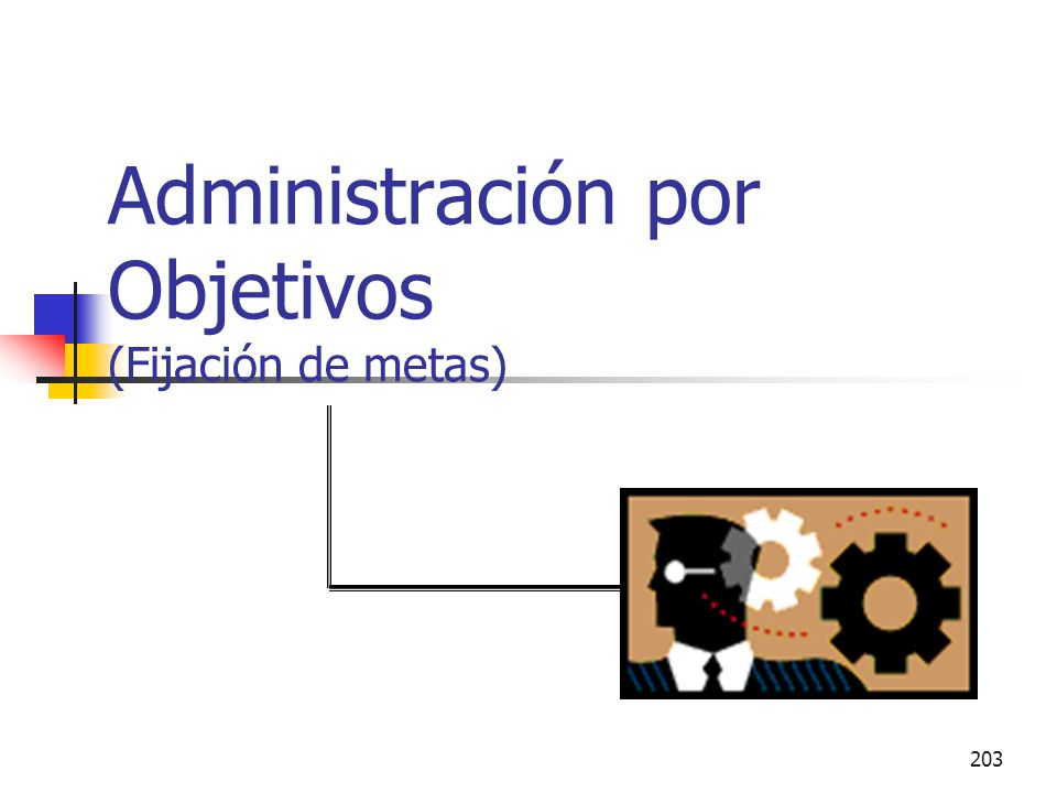 Administración por Objetivos (Fijación de metas)