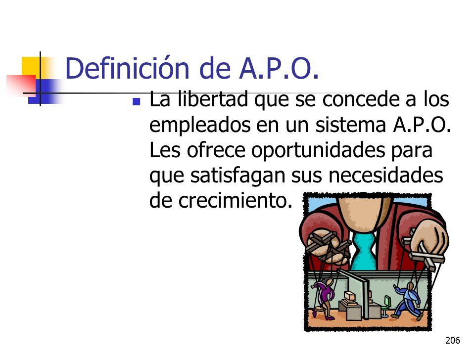 Definición de A.P.O.