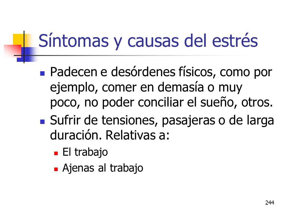 Síntomas y causas del estrés