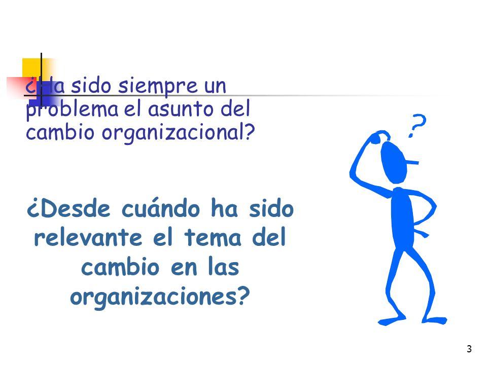 ¿Ha sido siempre un problema el asunto del cambio organizacional