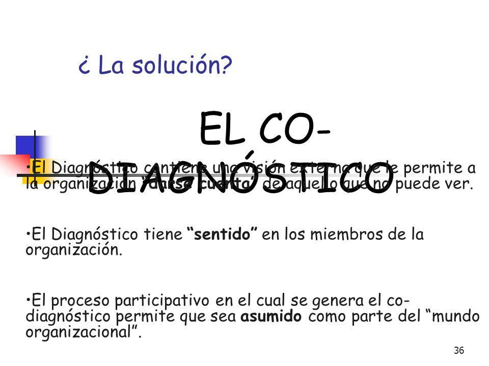 ¿ La solución EL CO-DIAGNÓSTICO