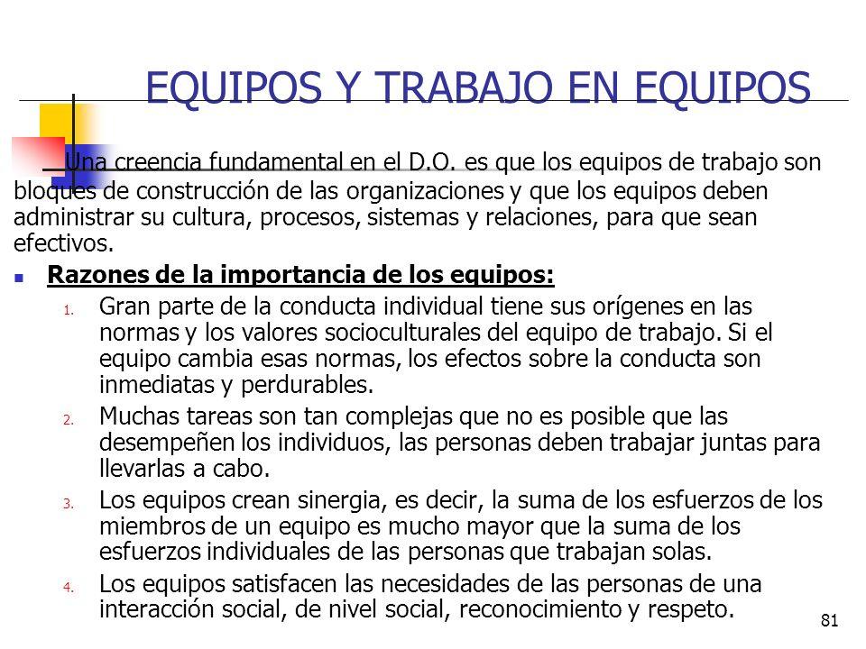 EQUIPOS Y TRABAJO EN EQUIPOS