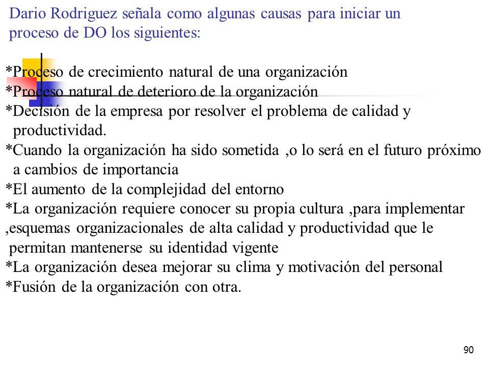 Dario Rodriguez señala como algunas causas para iniciar un