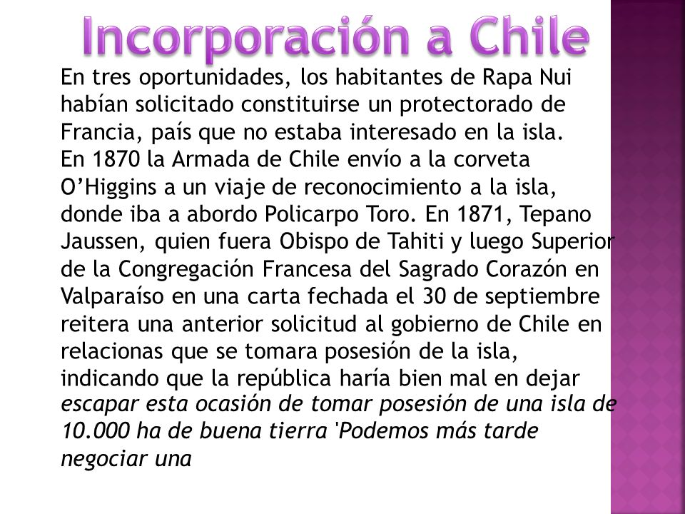 Incorporación a Chile
