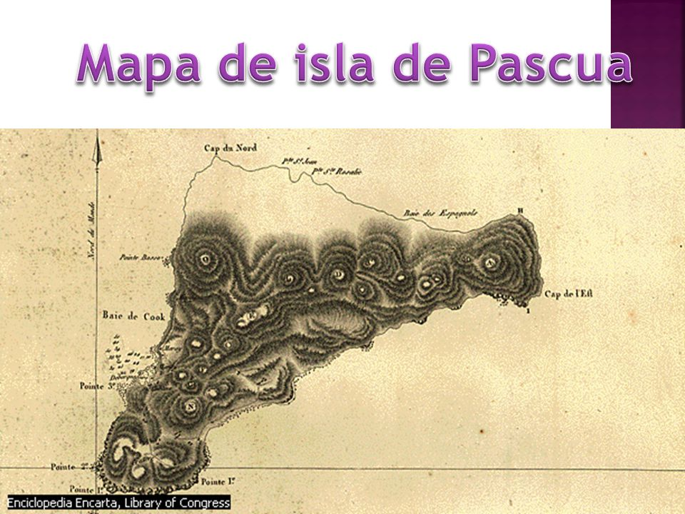 Mapa de isla de Pascua