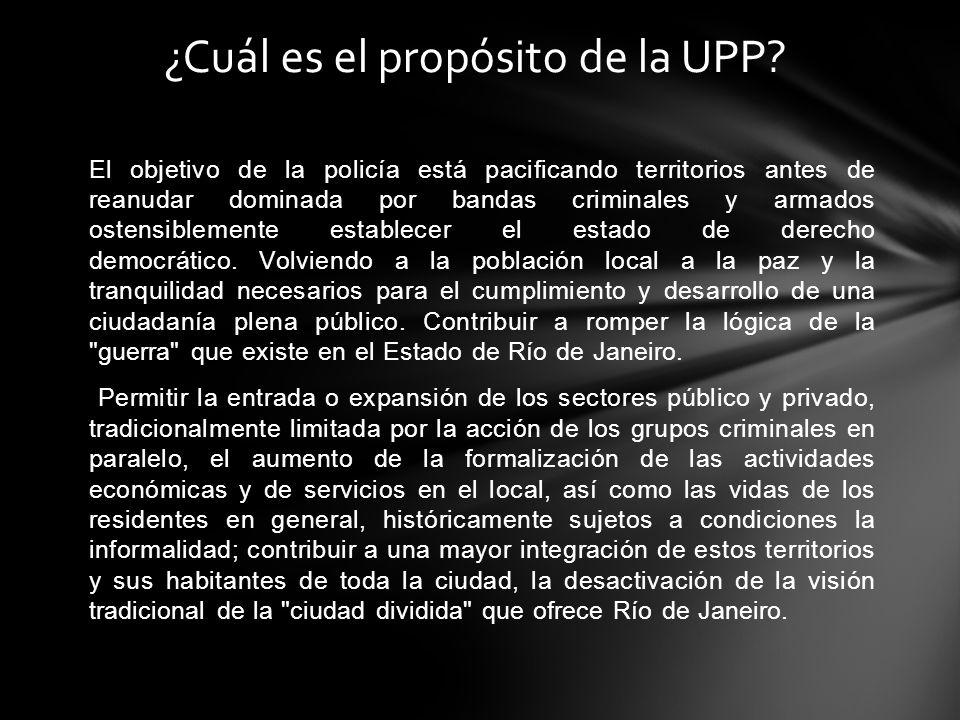 ¿Cuál es el propósito de la UPP