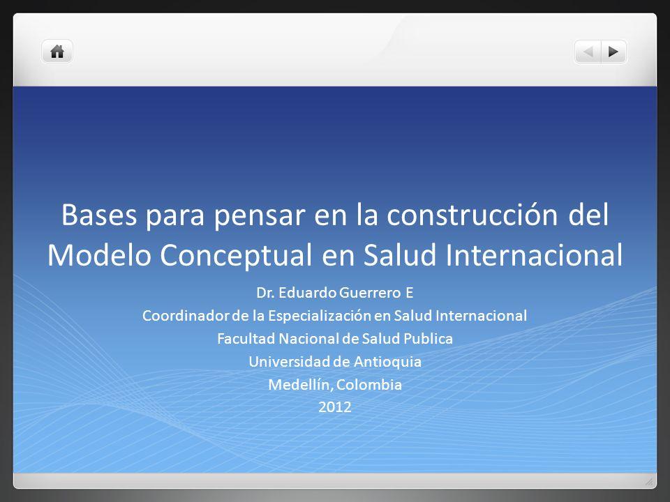 Bases para pensar en la construcción del Modelo Conceptual en Salud Internacional