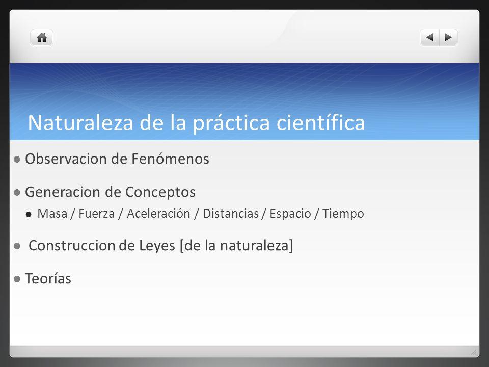 Naturaleza de la práctica científica