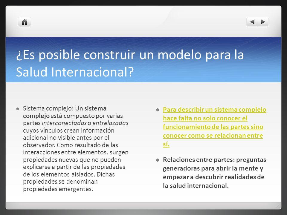 ¿Es posible construir un modelo para la Salud Internacional
