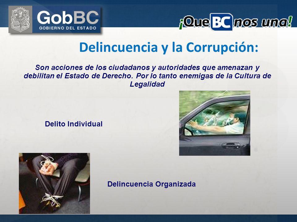 Delincuencia y la Corrupción: