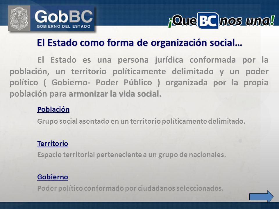 El Estado como forma de organización social…