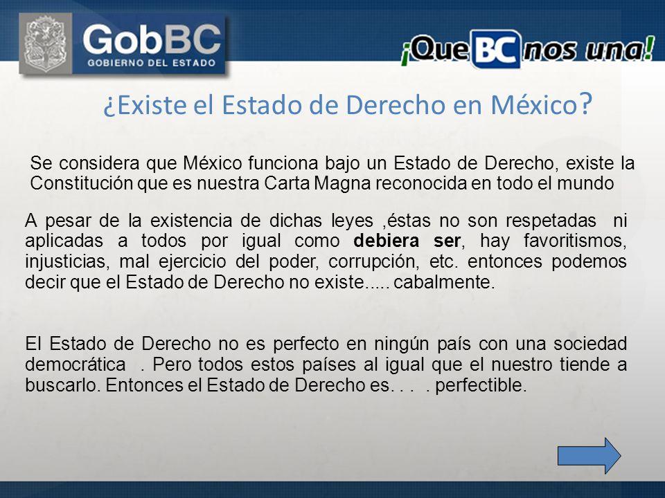 ¿Existe el Estado de Derecho en México