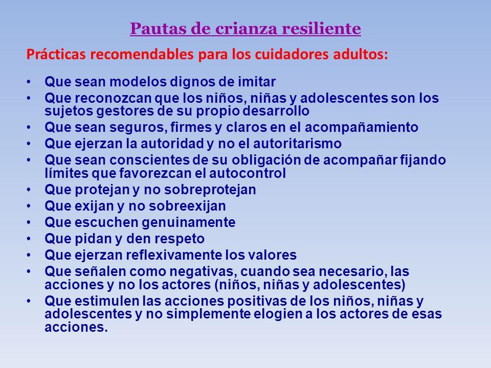 Pautas de crianza resiliente