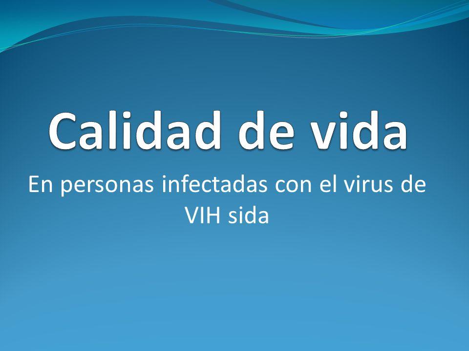 En personas infectadas con el virus de VIH sida