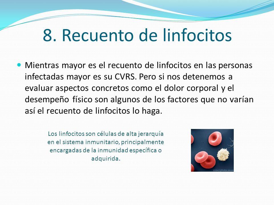8. Recuento de linfocitos