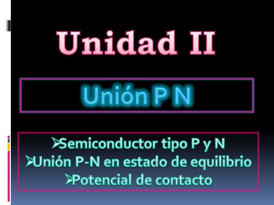 Semiconductor tipo P y N Unión P-N en estado de equilibrio