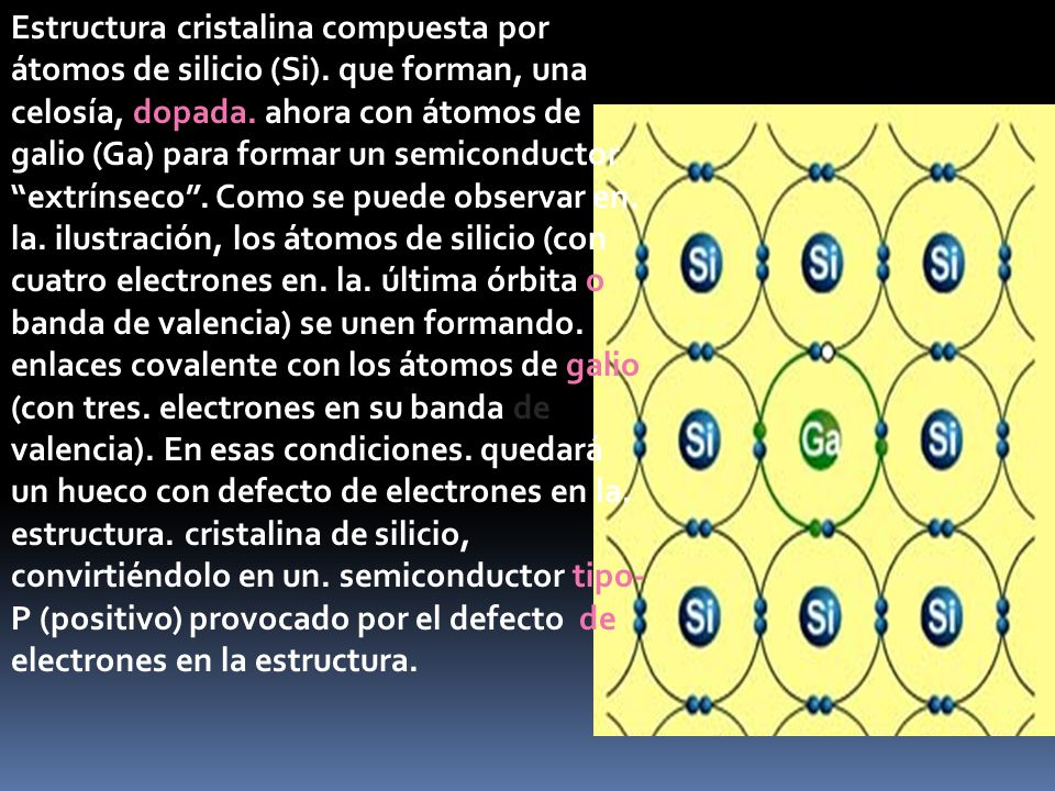 Estructura cristalina compuesta por átomos de silicio (Si)