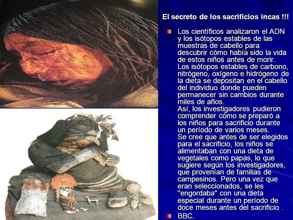 El secreto de los sacrificios incas !!!