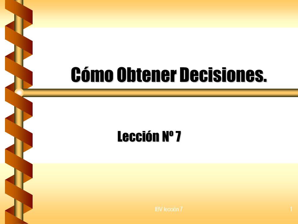 Cómo Obtener Decisiones.