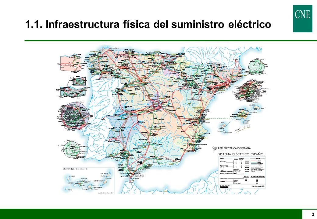 1.1. Infraestructura física del suministro eléctrico