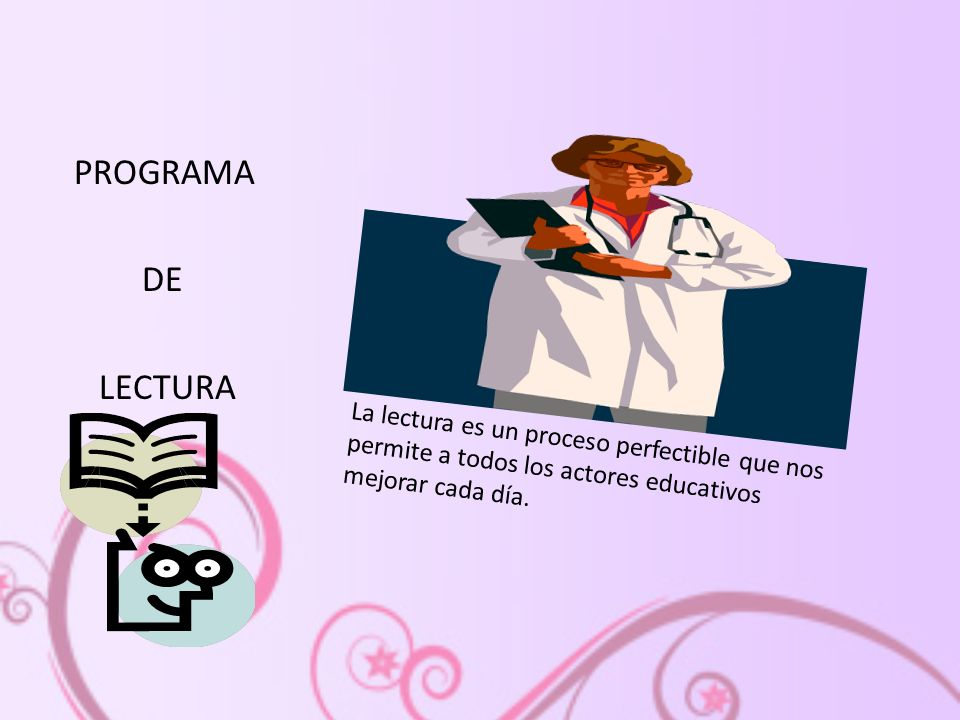 PROGRAMA DE. LECTURA.
