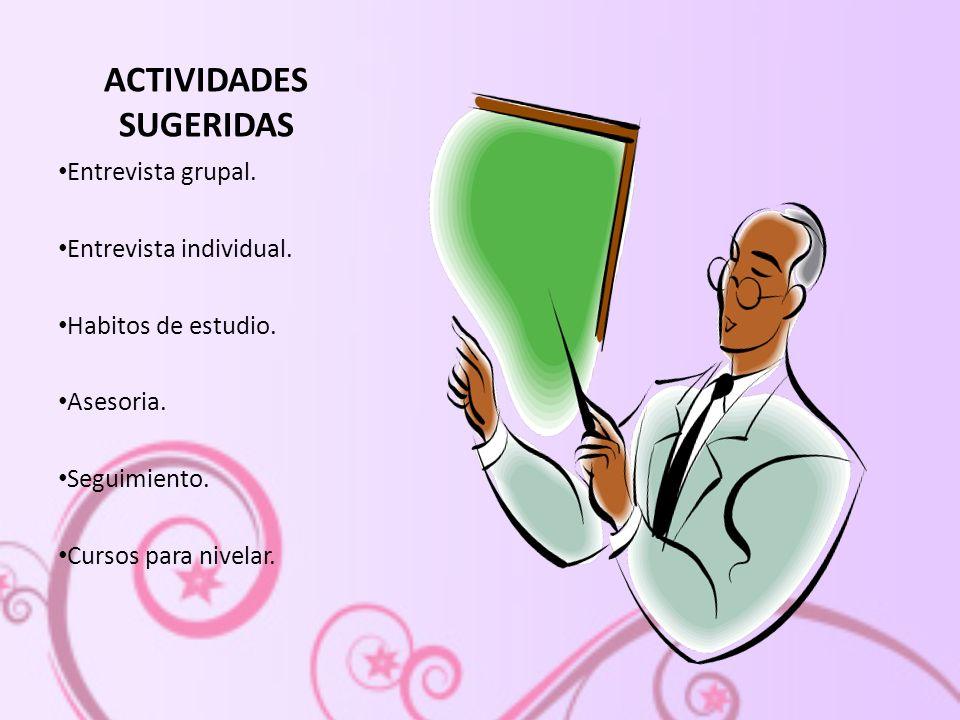 ACTIVIDADES SUGERIDAS