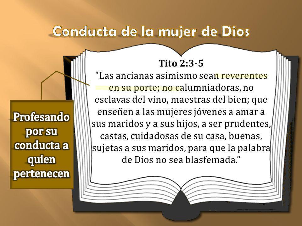 Conducta de la mujer de Dios