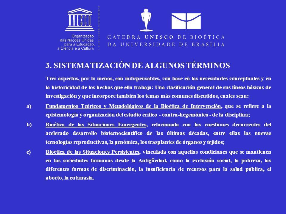 3. SISTEMATIZACIÓN DE ALGUNOS TÉRMINOS