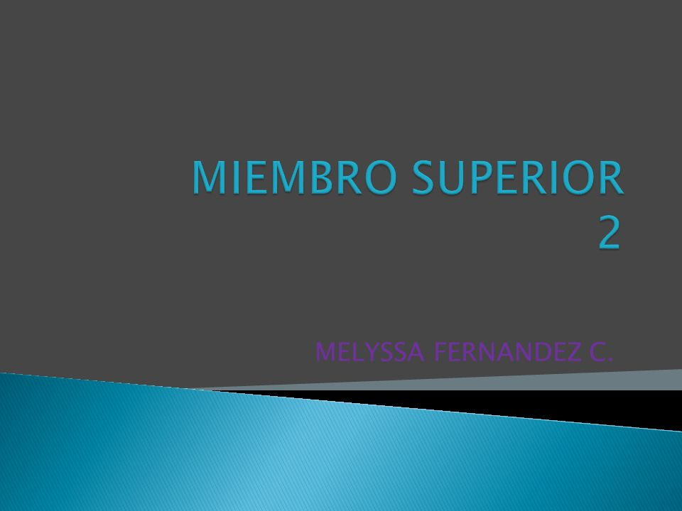 MIEMBRO SUPERIOR 2 MELYSSA FERNANDEZ C.