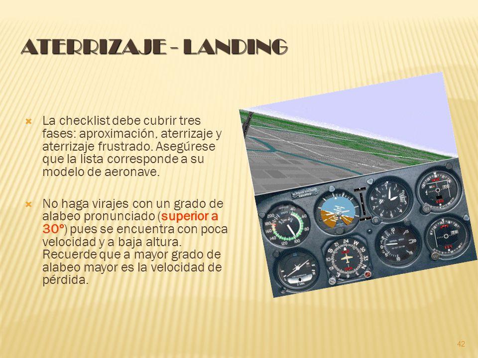 ATERRIZAJE - LANDING