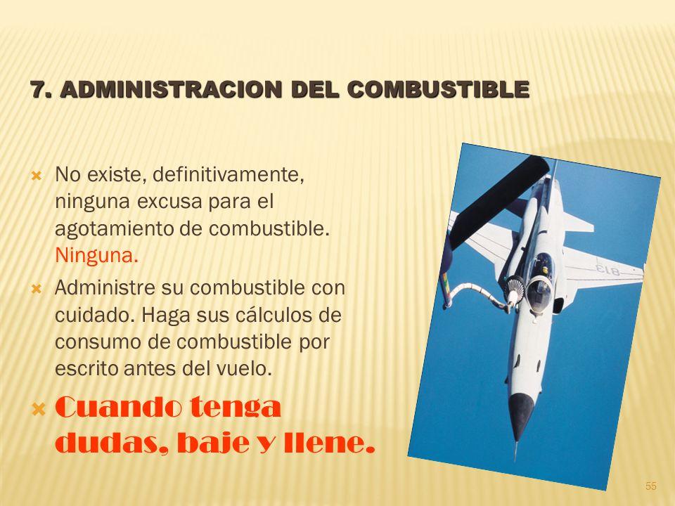 7. ADMINISTRACION DEL COMBUSTIBLE