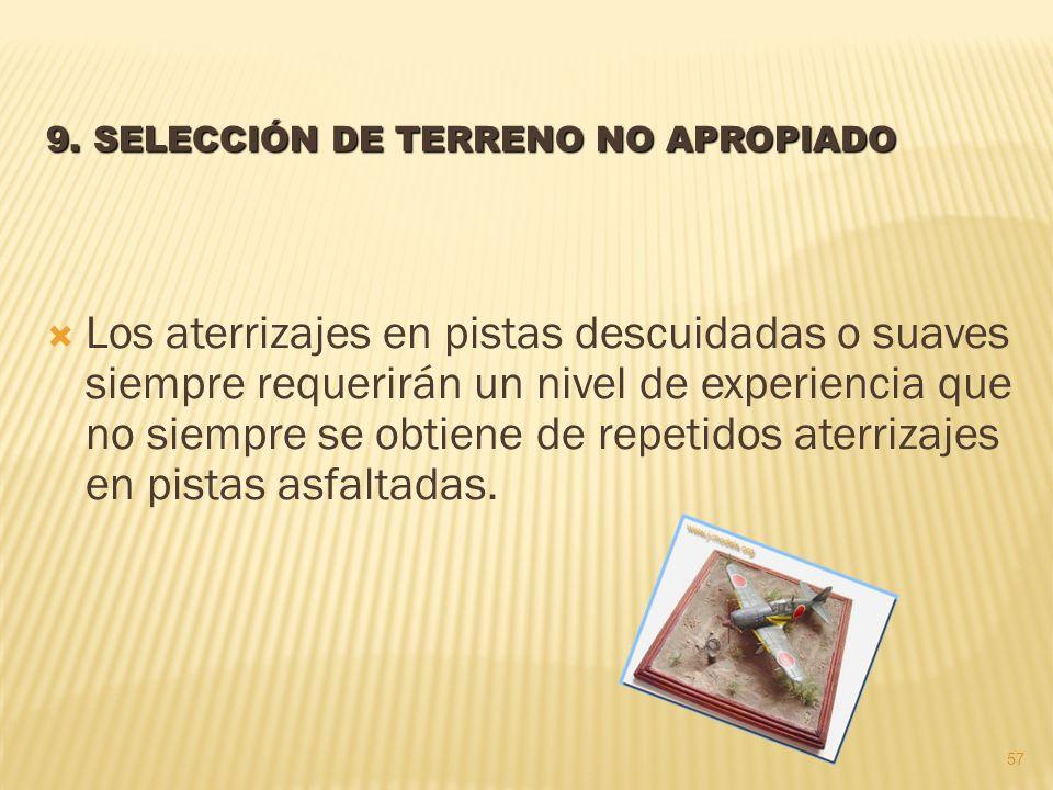9. SELECCIÓN DE TERRENO NO APROPIADO