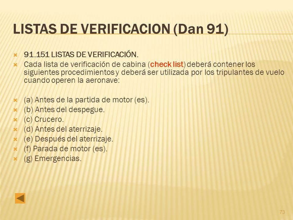 LISTAS DE VERIFICACION (Dan 91)