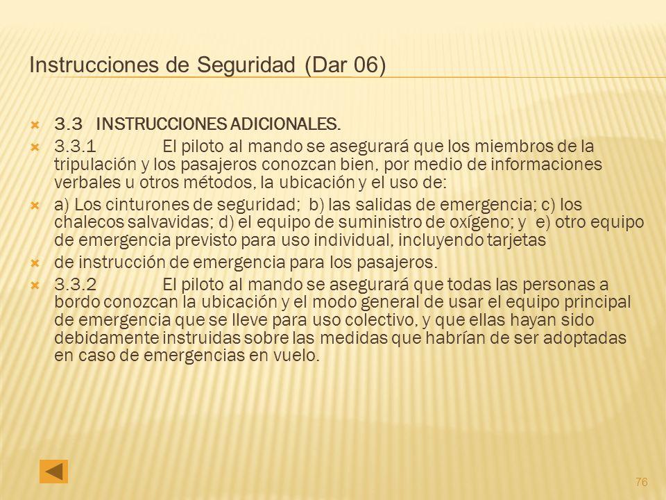 Instrucciones de Seguridad (Dar 06)