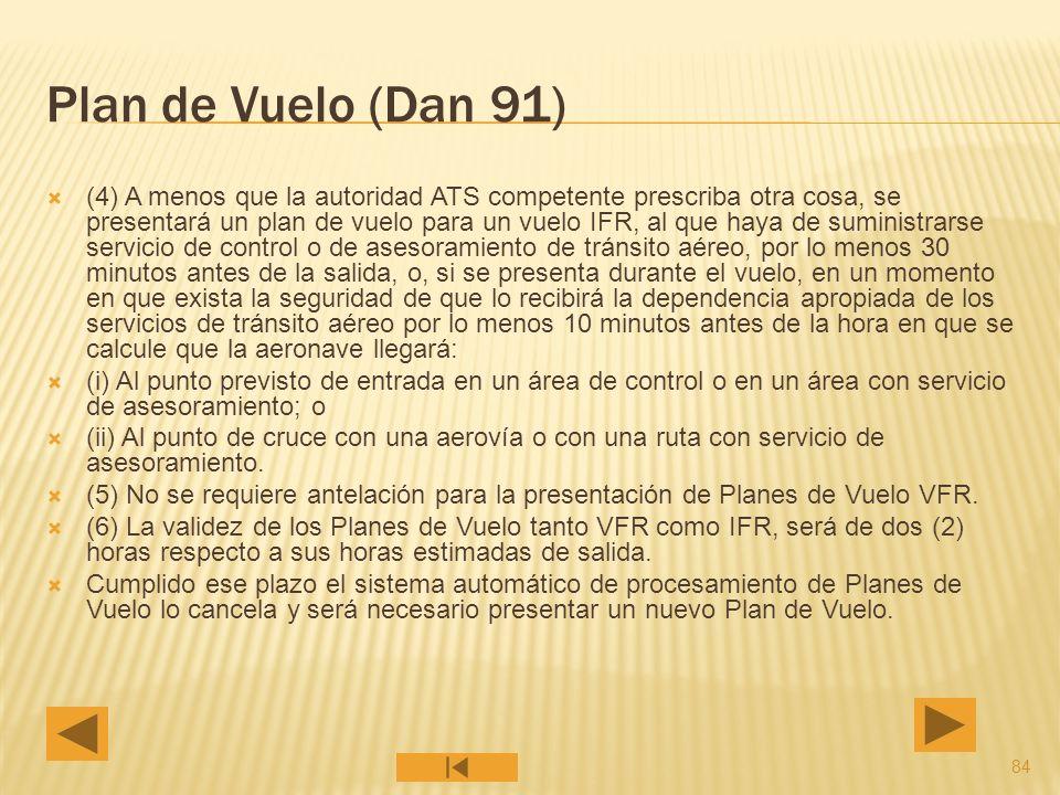Plan de Vuelo (Dan 91)