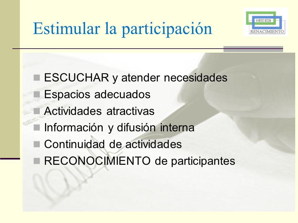 Estimular la participación