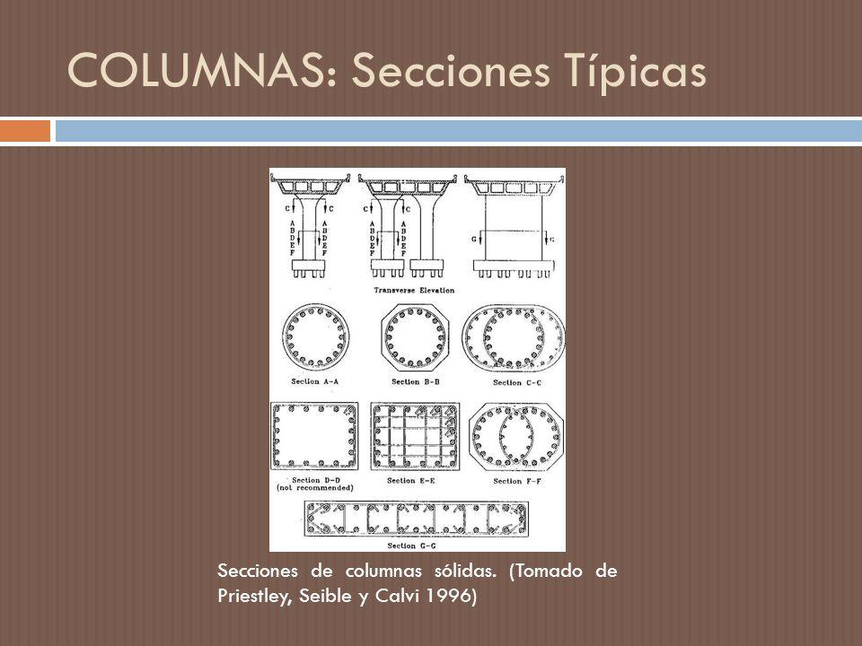 COLUMNAS: Secciones Típicas