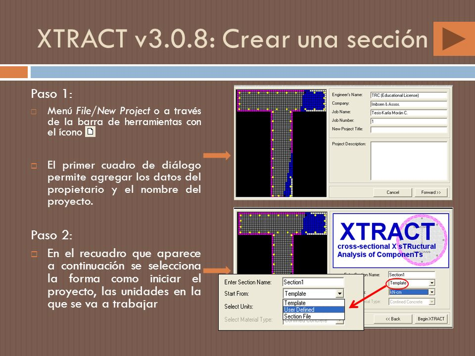 XTRACT v3.0.8: Crear una sección