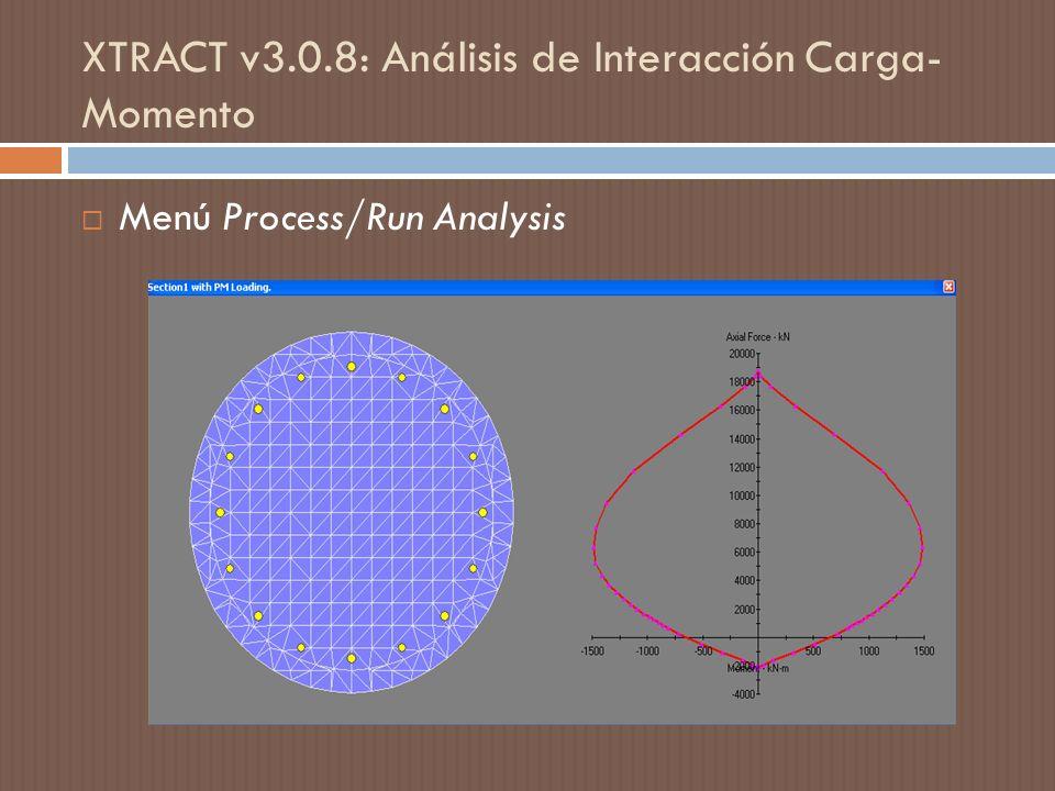 XTRACT v3.0.8: Análisis de Interacción Carga- Momento
