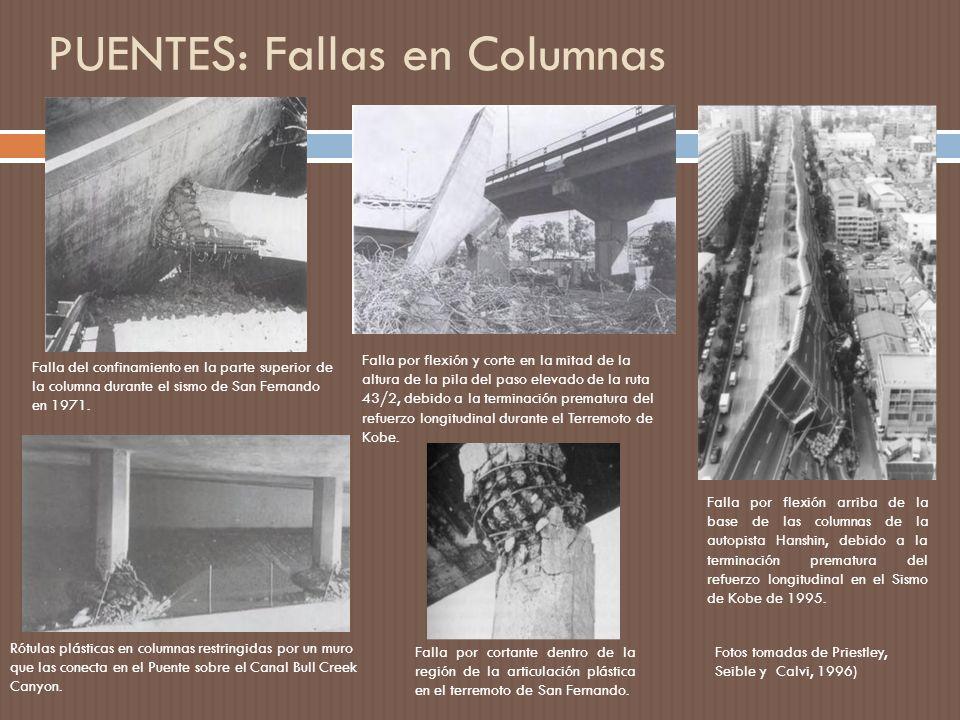 PUENTES: Fallas en Columnas