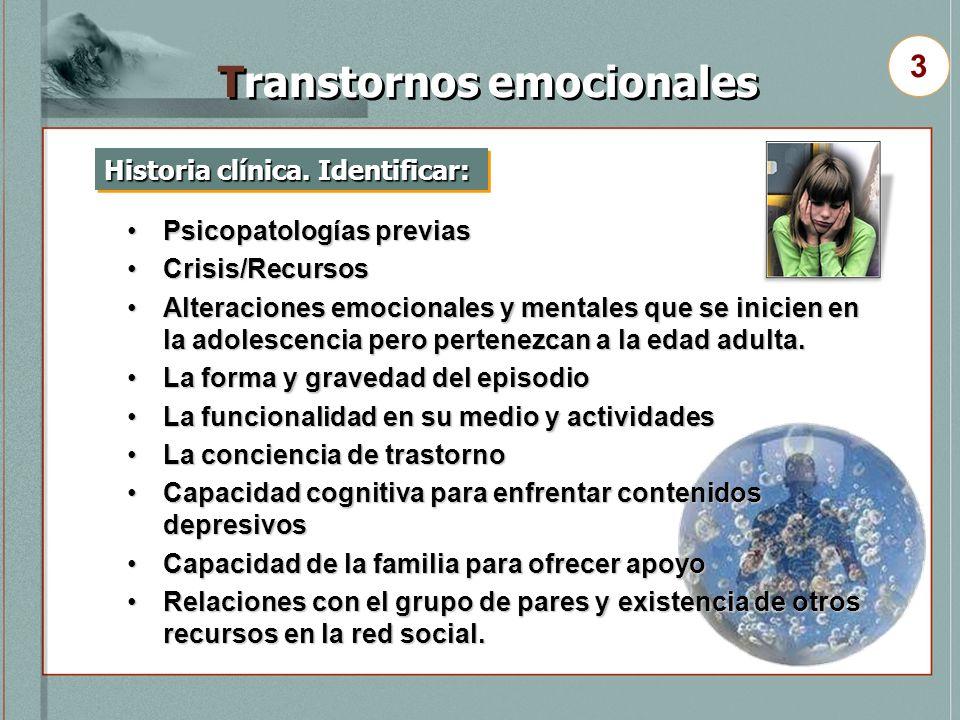Transtornos emocionales