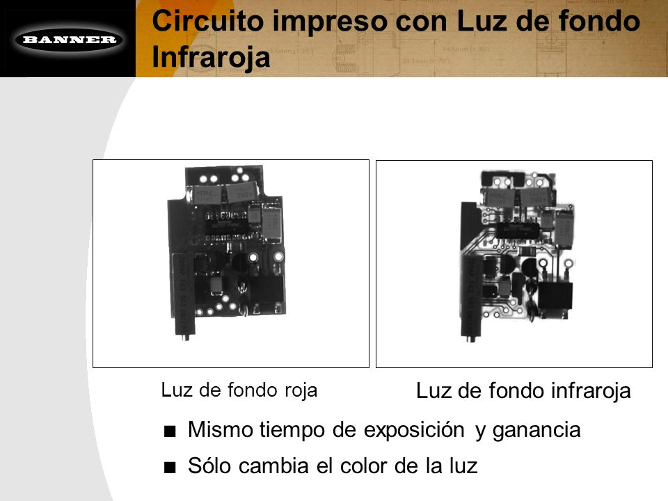 Circuito impreso con Luz de fondo Infraroja