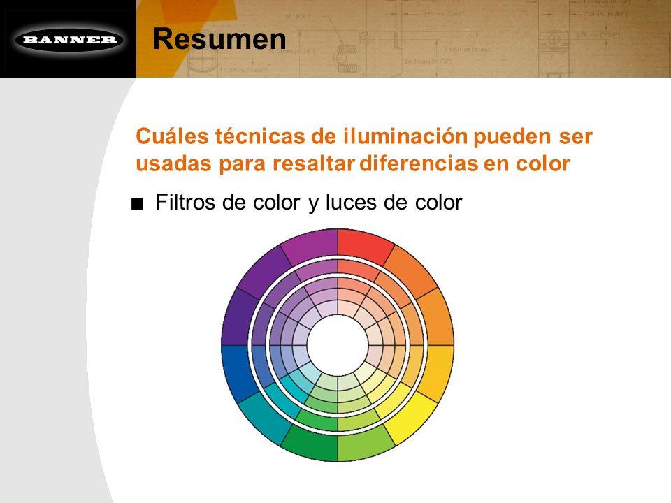 Resumen Cuáles técnicas de iluminación pueden ser usadas para resaltar diferencias en color.