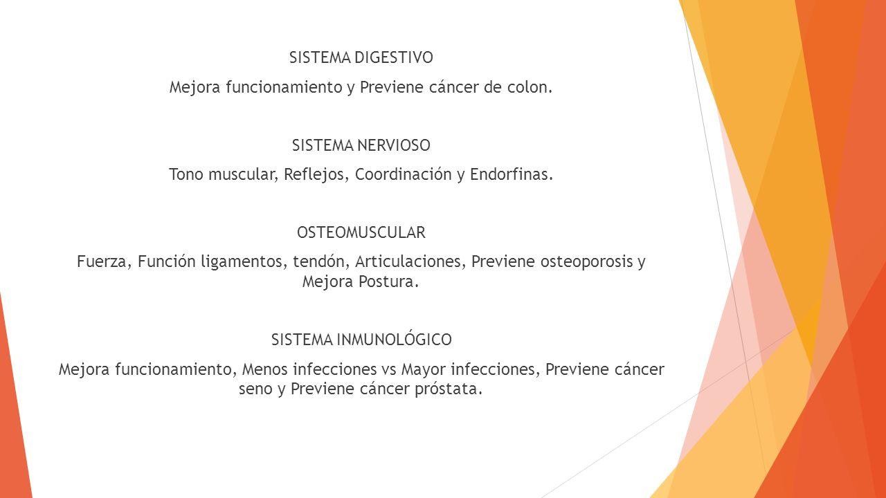 Mejora funcionamiento y Previene cáncer de colon.