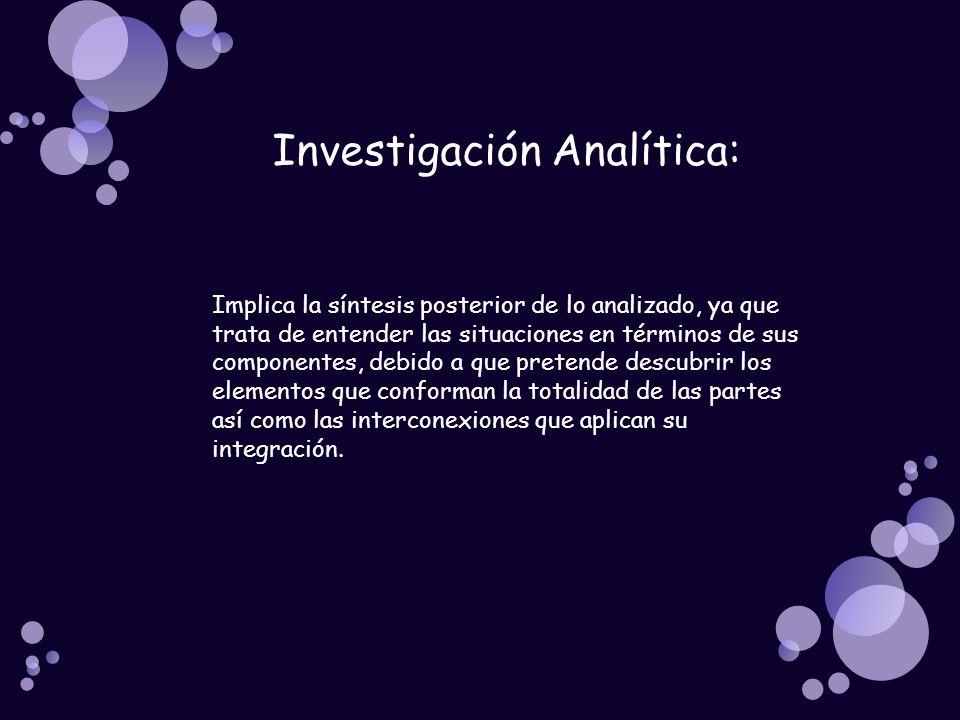 Investigación Analítica: