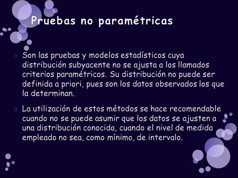 Pruebas no paramétricas