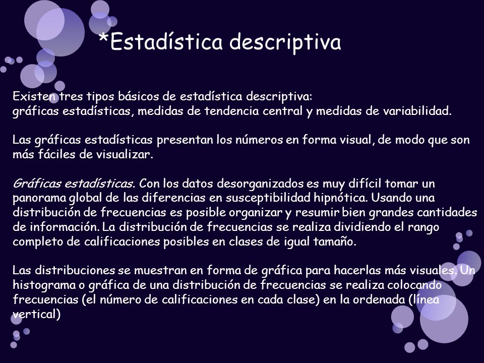 *Estadística descriptiva