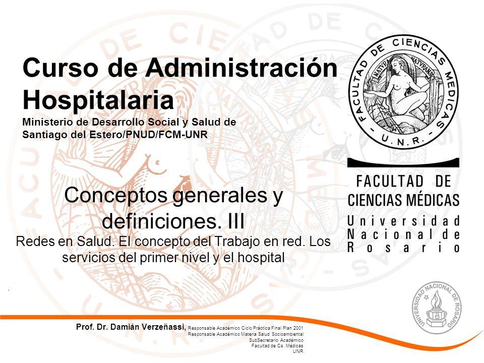 Curso de Administración Hospitalaria